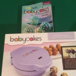 Baby cakes cake pop maker and book